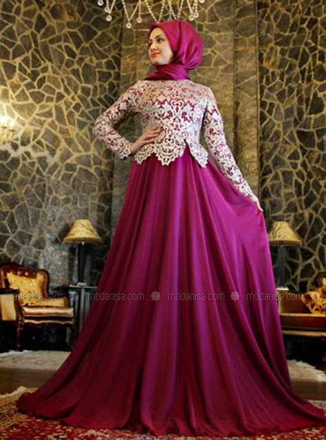 Model Baju Muslim Pesta Modern Terbaru