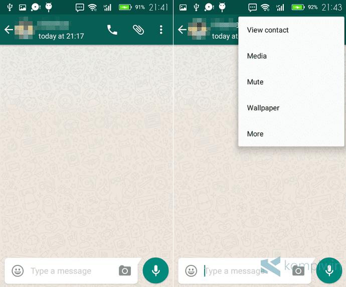 cara blokir nomor whatsapp orang lain