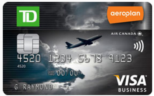 Canadian rewards get up to 60000 aeroplan miles with td for Visa small business credit card