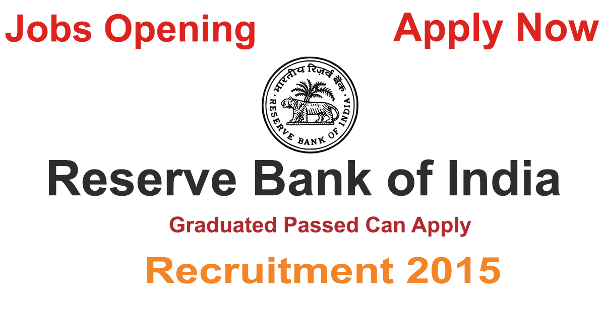 Reserve Bank of India Recruitment 2015