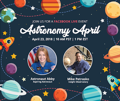 Facebook Education Live - Astronomy April Promo Card