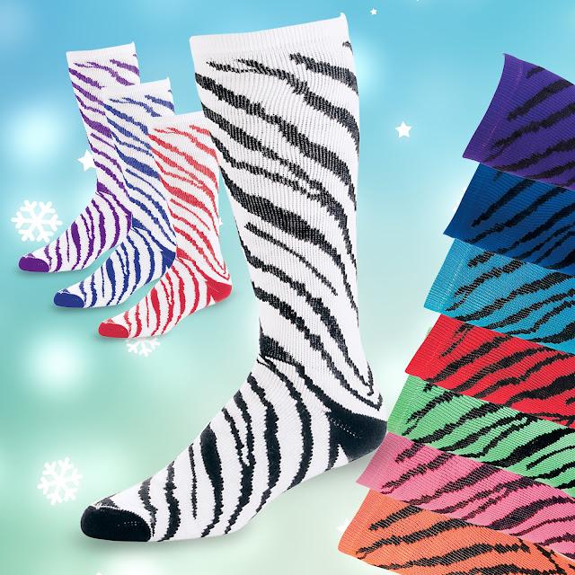 Zebra Stripe Knee Socks | CH6120