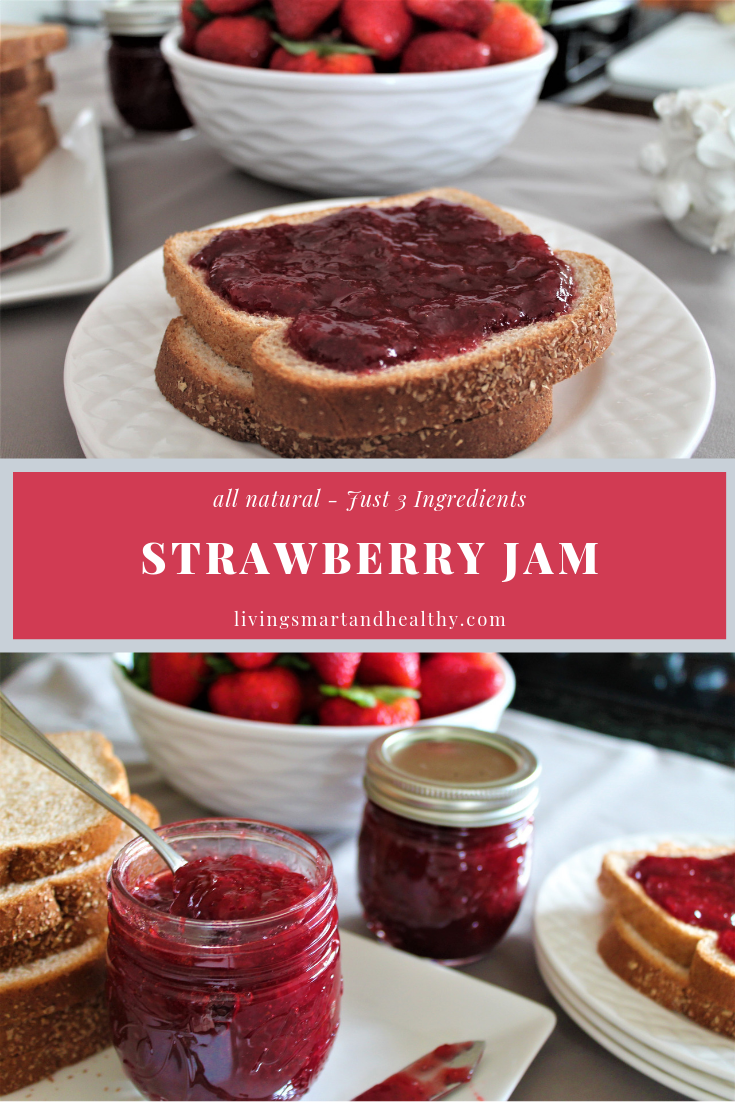 Strawberry Jam - Just 3 Ingredients (no pectin)