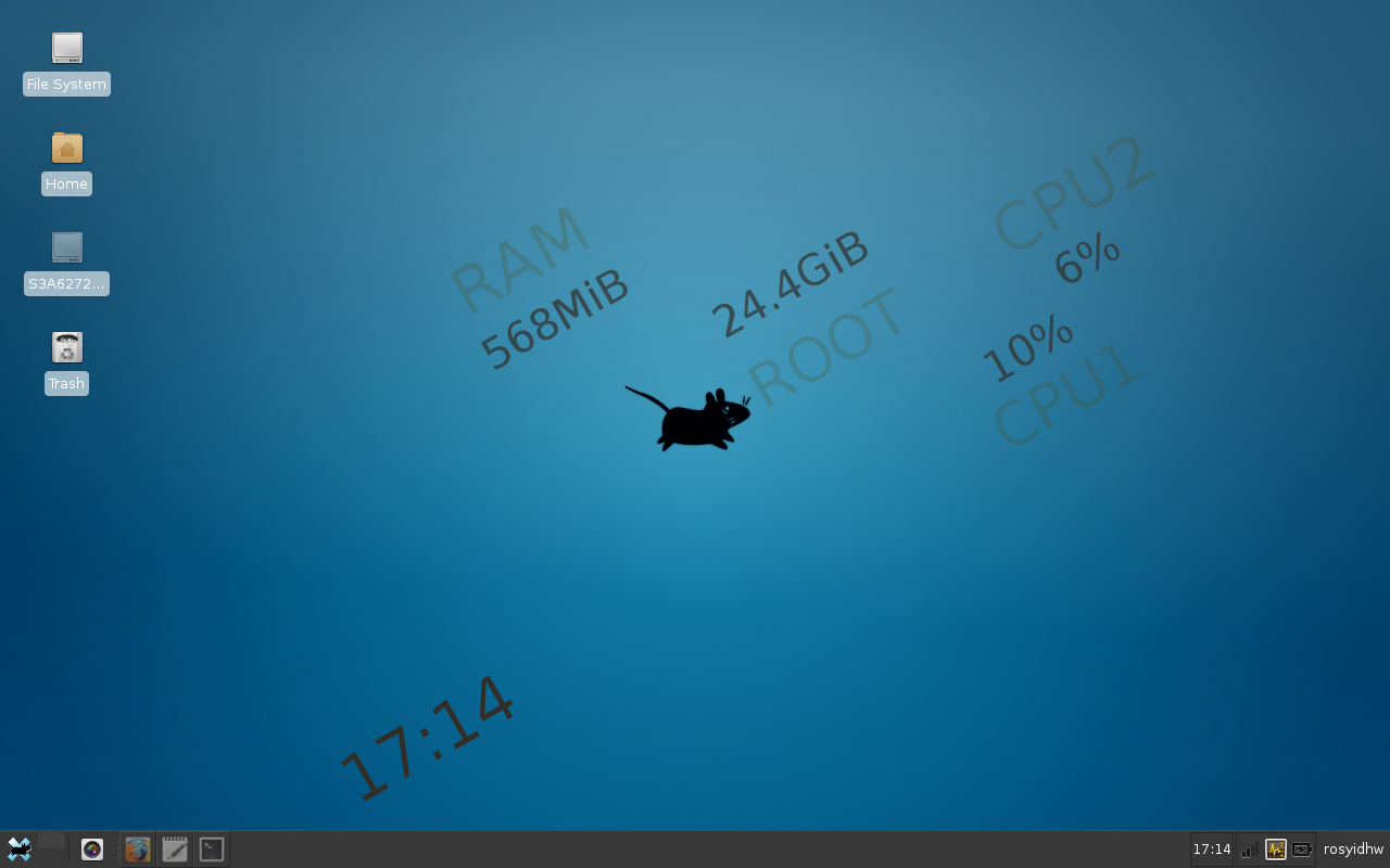 How to get conky transparent with XFCE 4.x on Archlinux