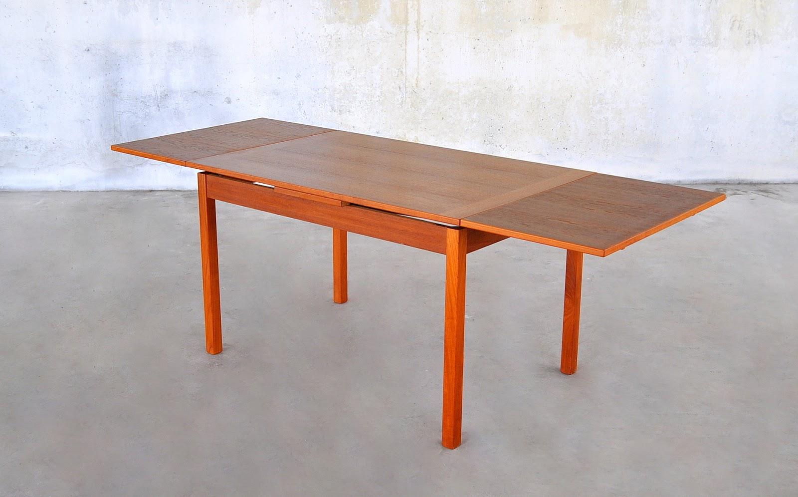 Select modern danish modern teak expandable dining room table - Scandinavian teak dining room furniture design ...