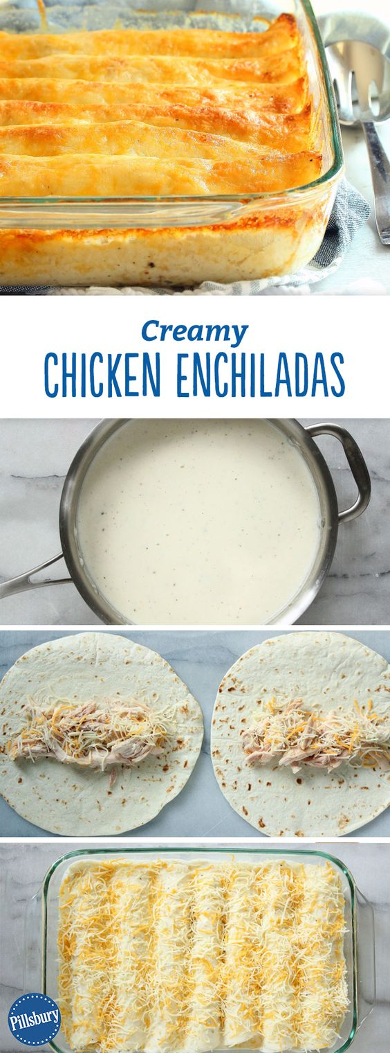 Creamy Chicken Enchiladas