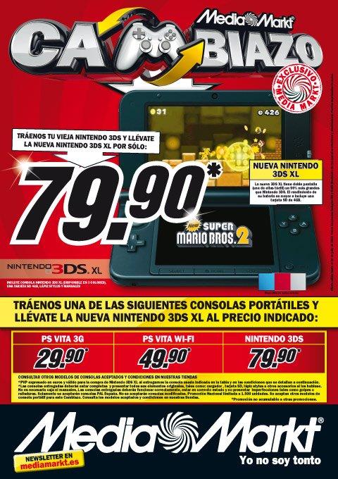 Ya venden nintendo 3ds xl en 150 de 159 en nintendo for Media markt fotos precios