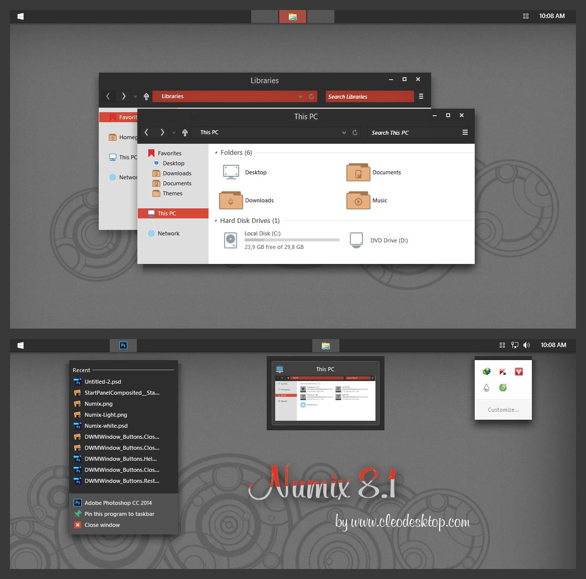numix windows 10 icons