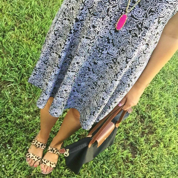 longchamp, swing dress, kendra scott