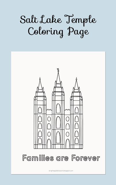 families are forever, temple, kids coloring, lds general conference