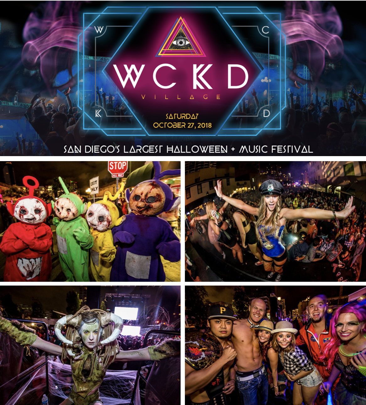 Save On Passes & Enter To Win VIP Tickets to WCKD Village, San Diego's Largest Halloween Party!