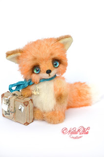 Artist teddy fox, teddy fox ooak, teddies with charm, handmade fox, artist teddy bear, NatalKa Creations, Teddys, Künstlerteddys, Künstler Fuchs, Teddy Fuchs