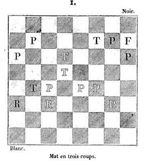 Problema de ajedrez en la revista Le Palamède