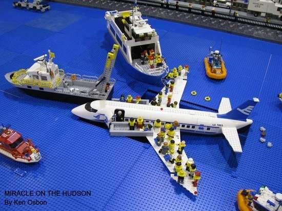Giant Lego Car Crash
