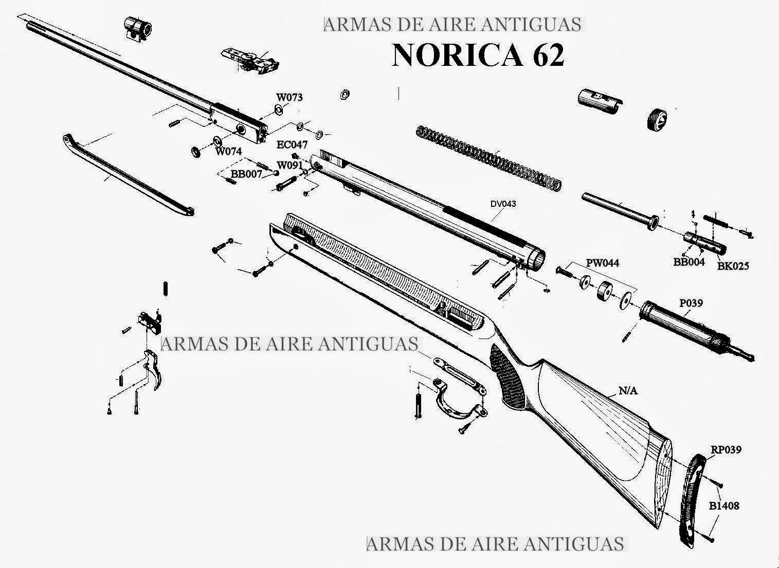 ARMAS ANTIGUAS DE AIRE: MANUAL NORICA 92