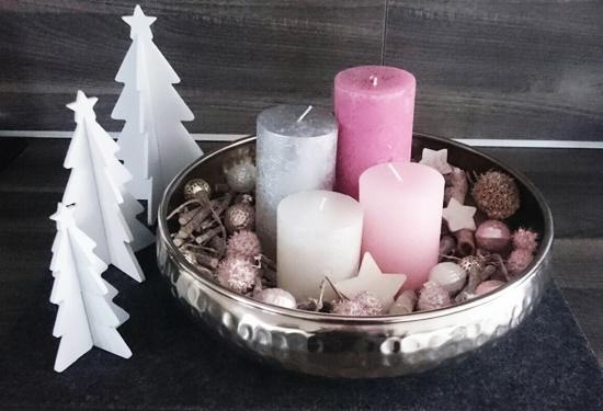 DIY Adventskranz Pastellfarben
