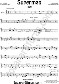 Violín Partitura de Superman Sheet Music for Violin Music Scores