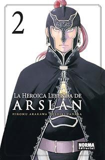 LA HEROICA LEYENDA DE ARSLAN 2  Manga de Rika Tanaka y Hiromu Arakawa