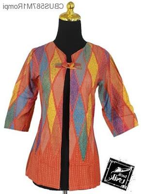 Blazer Baju Batik Untuk Pesta Modern