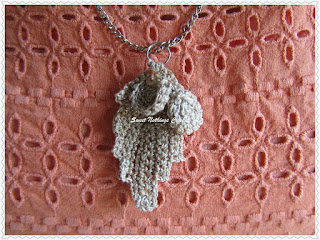 free crochet Irish lace pattern, free leaf pendant