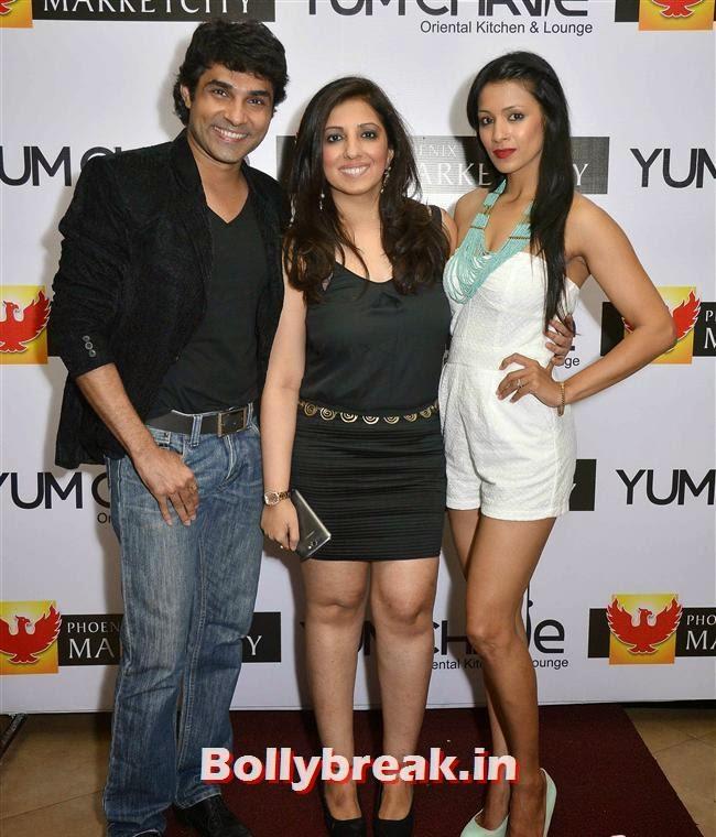 Mazhar, Munisha Khatwani, and Barkha Bisht, Crystal, Mouli & Mouni  at Easter Celebrations
