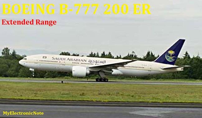 BOEING B-777 200 Extended Range