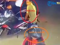 Edan Lihat Videonya! Hanya 9 Detik Motor 3 Meter dari Pemilik, Dompet di Jok Dibobol Maling