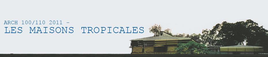 ARCH 100/110 2011 - Les Maisons Tropicales: Tropical House: Plan A