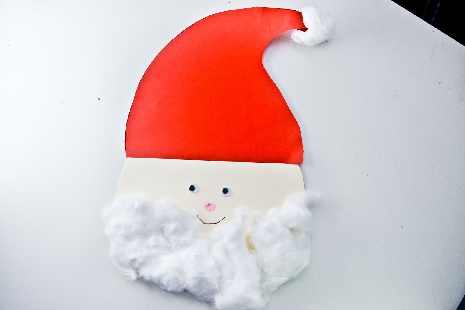 santa cotton wool craft christmas, father christmas