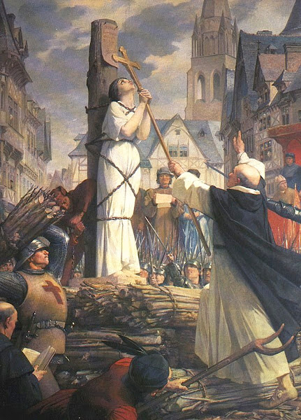 Joan of Arc on the Pyre By Jules-Eugene Leneuveu, Macabre Art, Macabre Paintings, Horror Paintings, Freak Art, Freak Paintings, Horror Picture, Terror Pictures