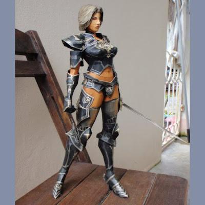 Lineage Ii Human Knight Paper Model
