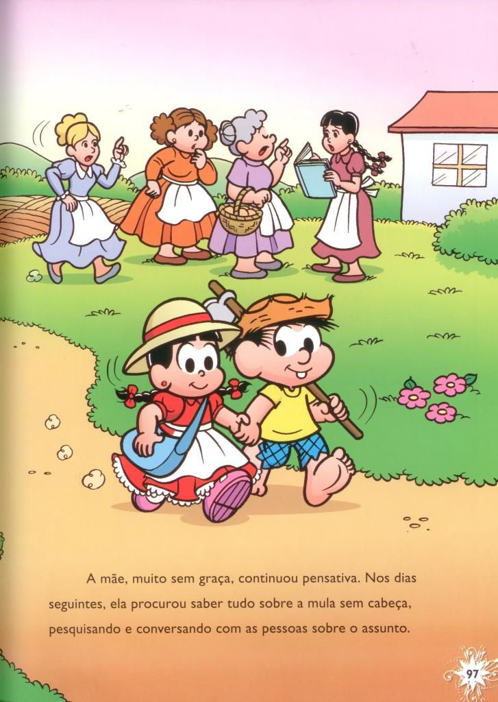 """Educação Solidária: Livro da Turma da Mônica: """"Mula sem"""