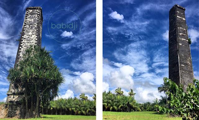 2 anciennes cheminées de sucrières à Gros Bois au Sud de l'Île Maurice