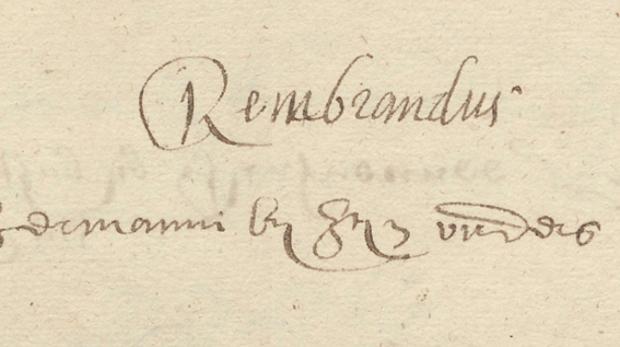 Hallan un documento sobre Rembrandt hasta ahora desconocido en la Universidad de Leiden