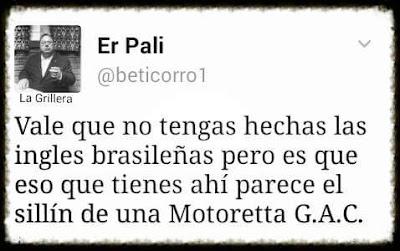 Vale que no tengas hechas las ingles brasileñas pero es que eso que tienes ahí parece el sillín de una Motoretta G.A.C.