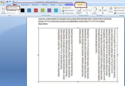 Tutorial microsoft office kali ini akan menerangkan tentang cara membuat tulisan vertikal  Cara Bikin Tulisan Miring Dengan Mudah Di Ms Word