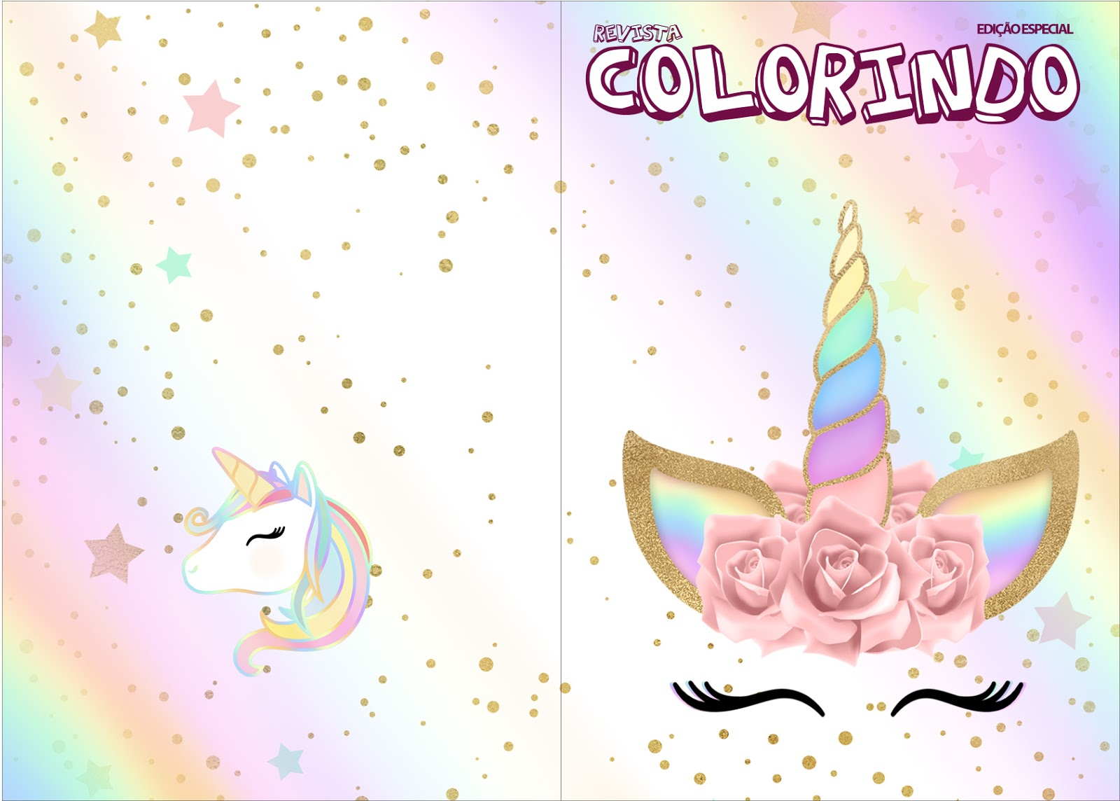 graphic regarding Free Printable Unicorn named Unicorn and Rainbow: Free of charge Social gathering Printables. - Oh My Fiesta