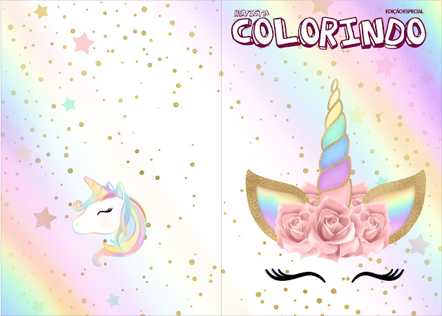 Unicorn and Rainbow: Free Party Printables. | Oh My Fiesta! in english