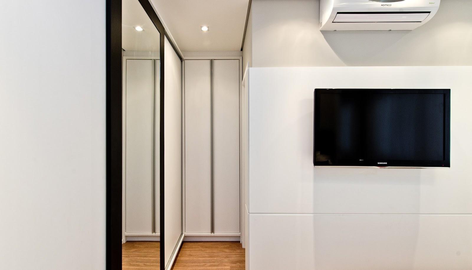 #926239  Amplia Espaços e Transforma Apartamento Compacto em Grande Lar 1600x916 px projeto banheiro compacto