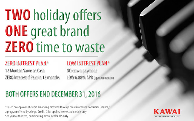 Photo of low interest or interest-free terms for you new Kawai piano from Grafton Piano & Organ