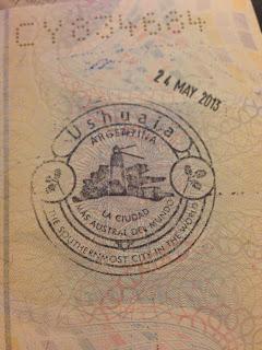 Passaporte carimbo Ushuaia