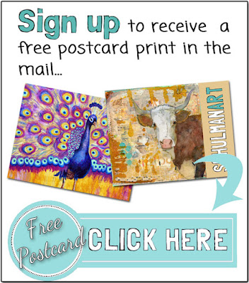 free postcard by @schulmanArt click here→ https://schulmanart.leadpages.co/free-peacock-postcard/