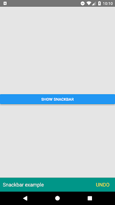 Create Custom Snackbar Component Example In React Native- Android