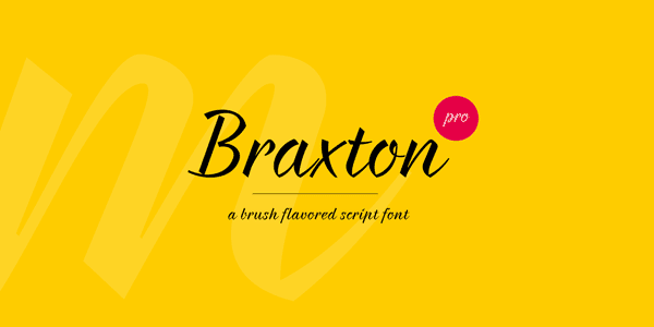 35 Font Script untuk Desain grafis - Braxton Script Font
