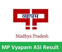MP Vyapam ASI Result