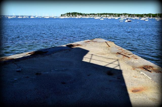 Derby Wharf, Salem Harbor, Salem, Massachusetts, shadow