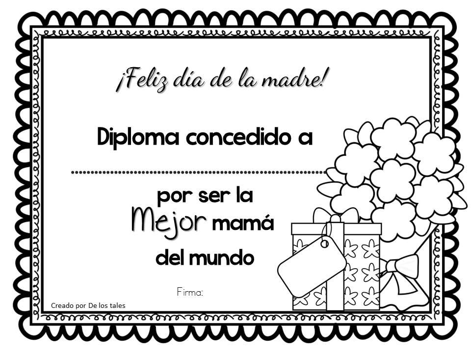 Blog De Recursos Escolares Diplomas Para El Día De La Madre