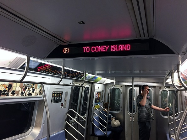 Subway to Coney Island New York