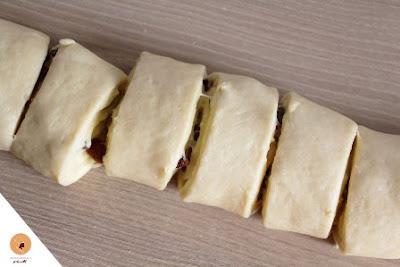 Chinois à la crème pâtissière بريوش بالكريم باتسيير والزبيب