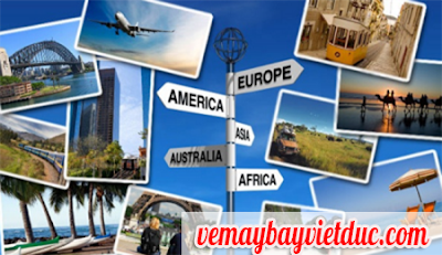 các hành trình vé máy bay quốc tế giá rẻ